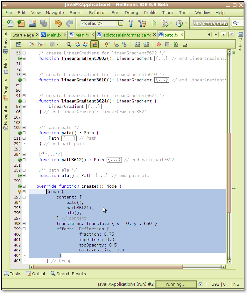 Pantallazo-JavaFXApplication4 - NetBeans IDE 6.9 Beta-2