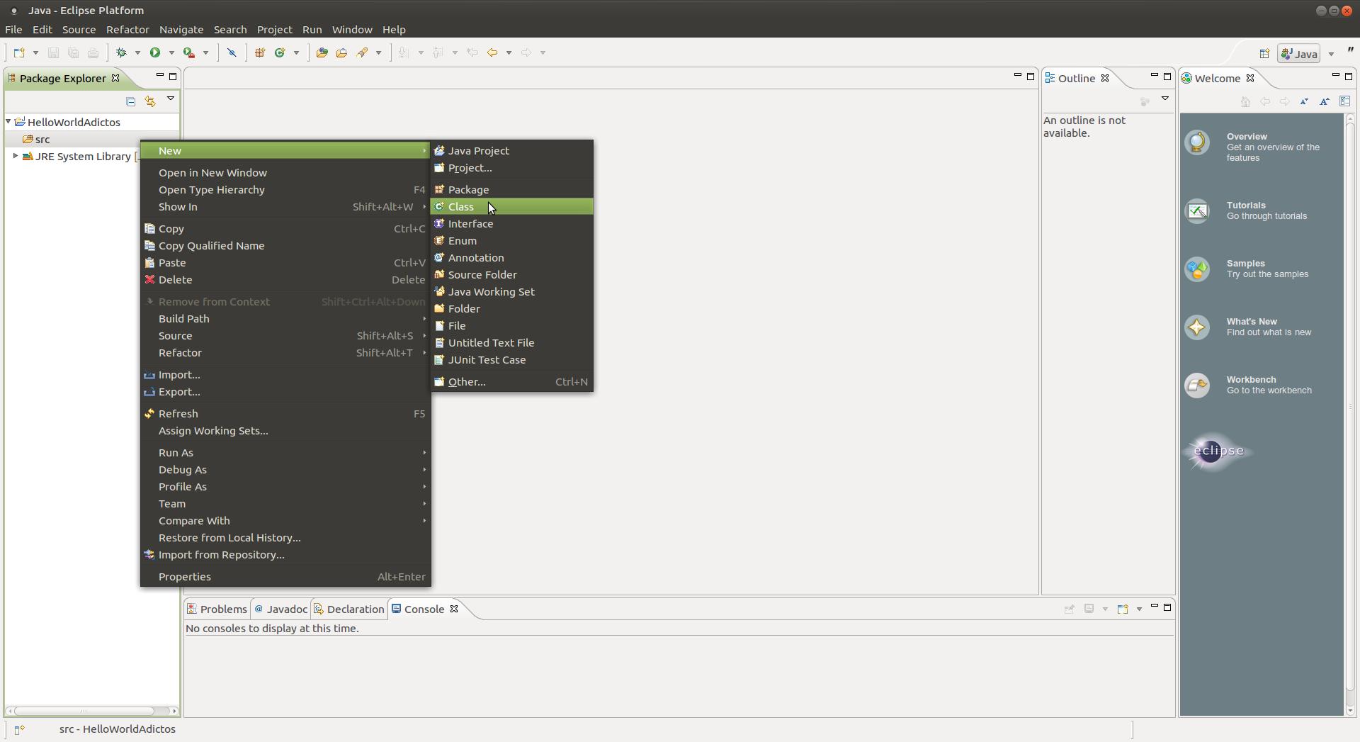 Captura-Java - Eclipse Platform -1